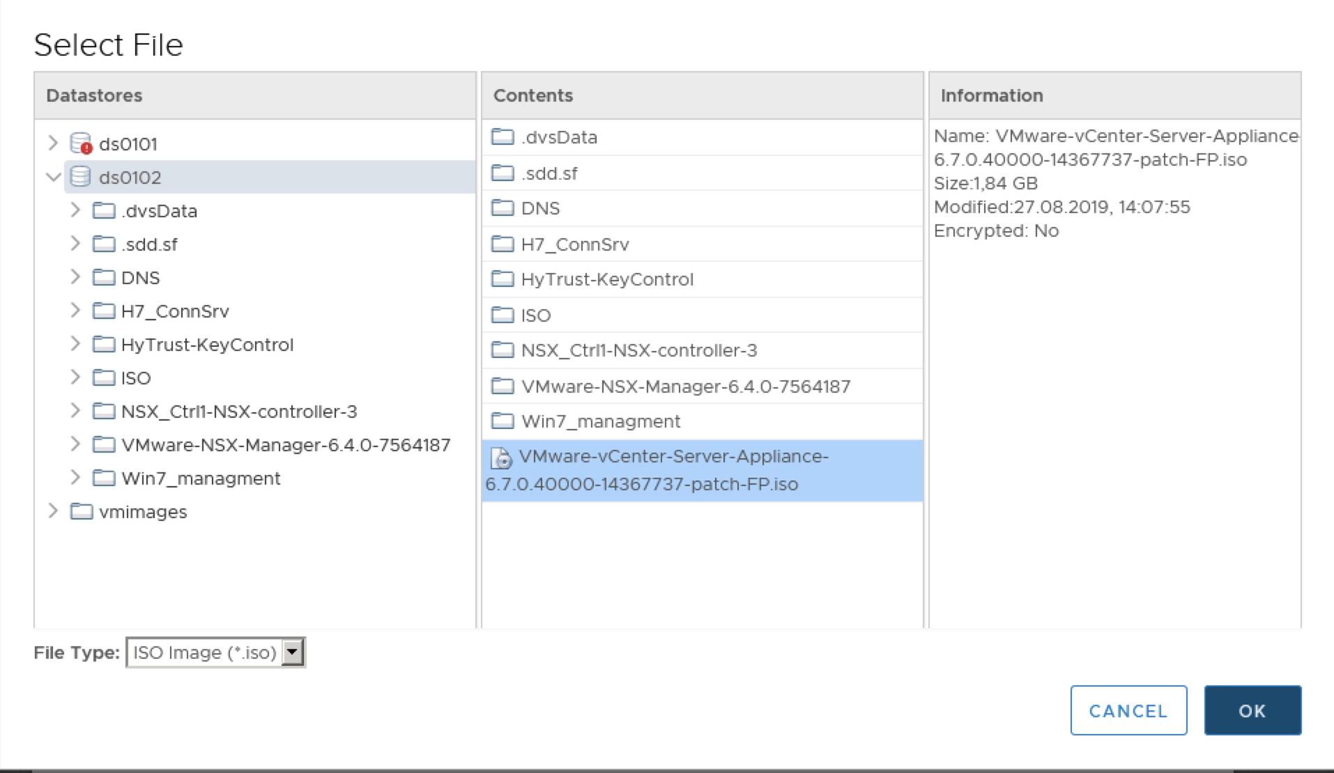 vCenter 6 7 U2 -> U3 offline update via VAMI – SOFTWARE